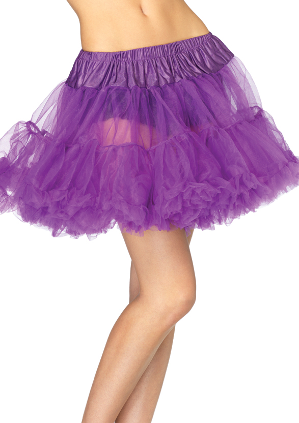 Jupon en tulle violet