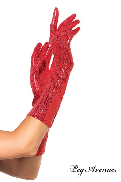 Paire de gants sequins