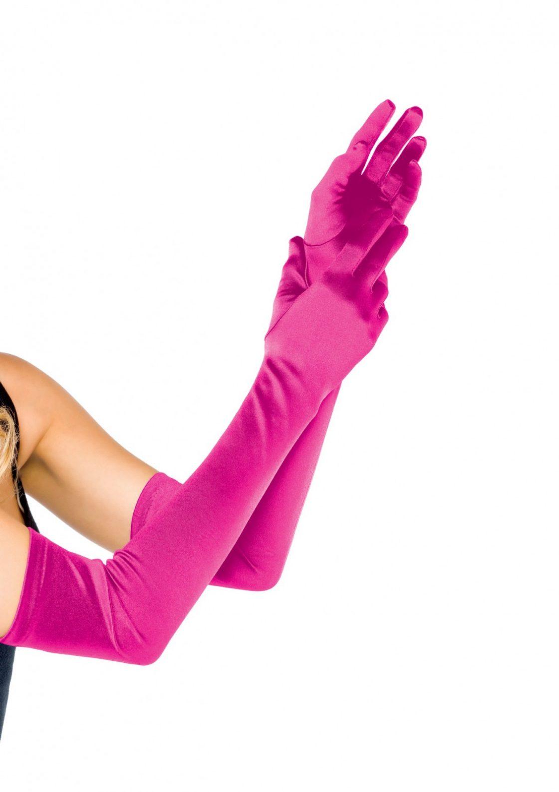 Paire de gants satin